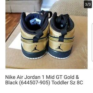 newest cdbc8 deeb5 Nike Shoes - Nike Air 6c Jordan 1 Mid GT Gold Black